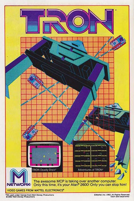 """""""Only you can stop him on your Atari""""  Vintage Games Ads via Abduzeedo"""