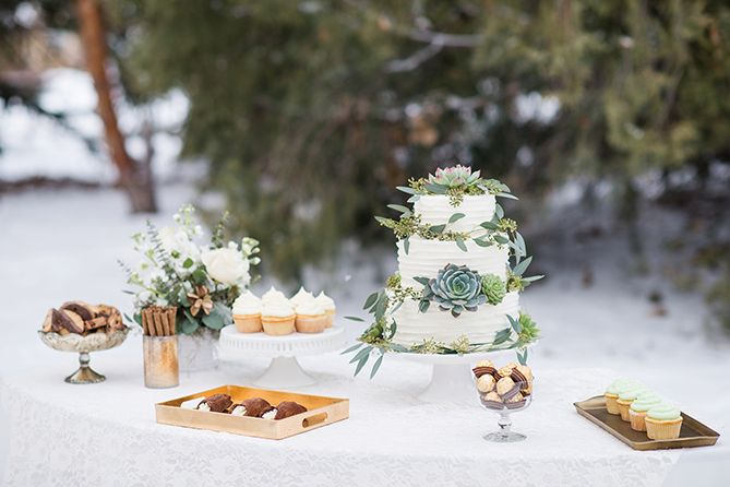 Styled Saturday | Awash in Winter Greens | Vermont Vows Magazine