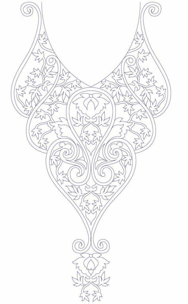 Hand embroidery designs for kurtis neck | Bordados en pedrería.