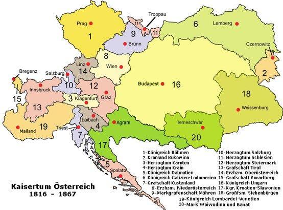 Oostenrijk Hongarije Kaarten Hongarije