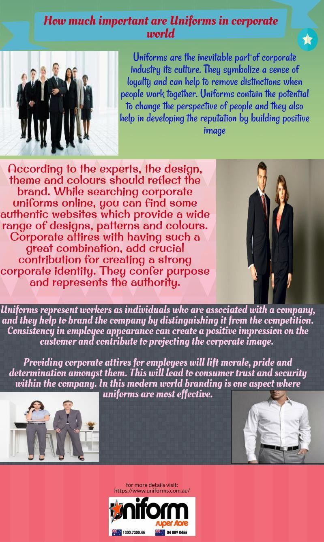 4b2a611e9 importance of corporate uniforms Corporate Uniforms, Online Purchase
