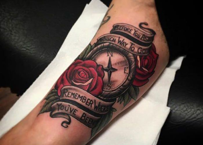 125 Best Compass Tattoos For Men Cool Designs Ideas 2020 Guide Compass Rose Tattoo Compass Tattoo Men Compass Tattoo Meaning