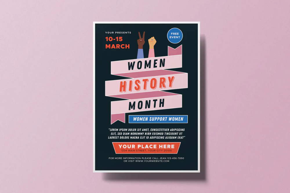 Women S History Month Flyer By Thesavorydirectors On Envato Elements Womens History Month Women In History Elements