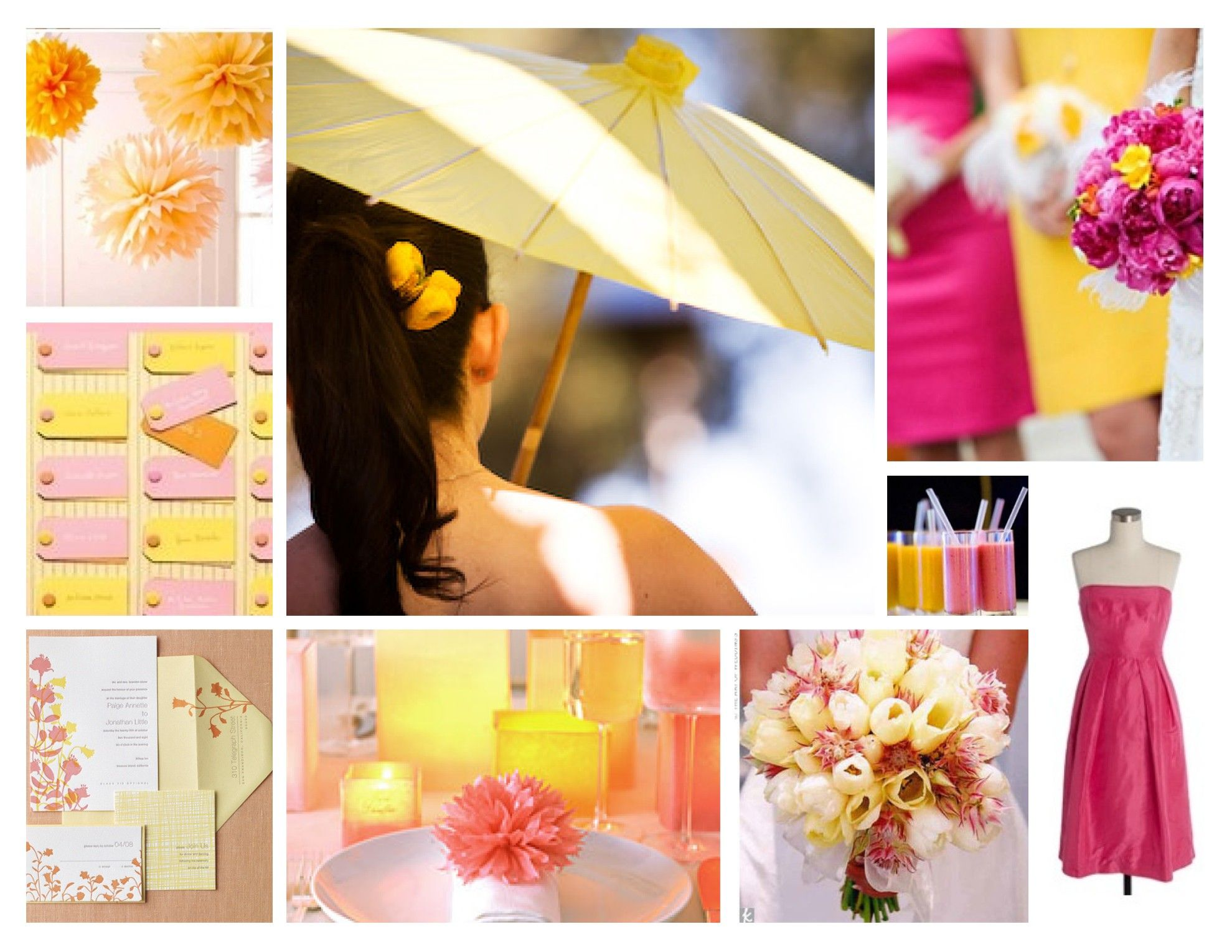 pink and yellow wedding ideas   ♥ Jevel Wedding Planning   Wedding ...