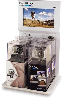 Gopro Retail Display Retail Display Countertop Display Custom