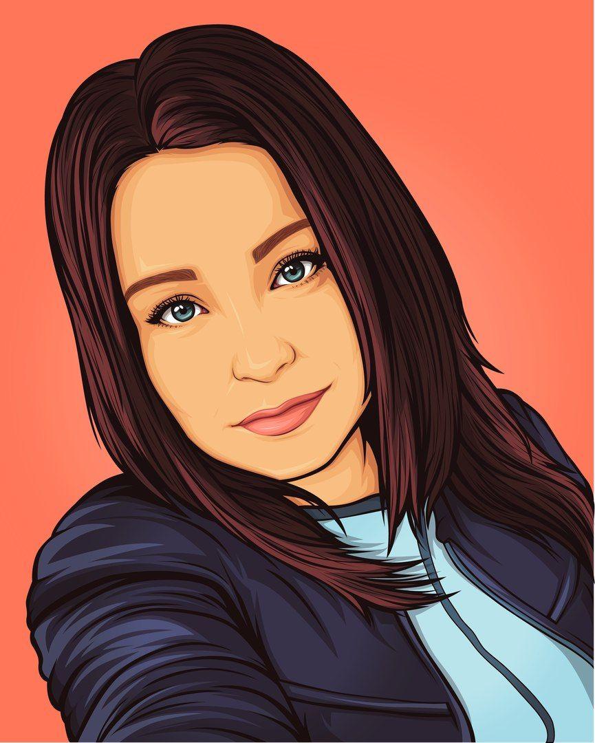Vector Art Style Order Your Portrait Turn Photo Into Cartoon My Cartoon Portrait