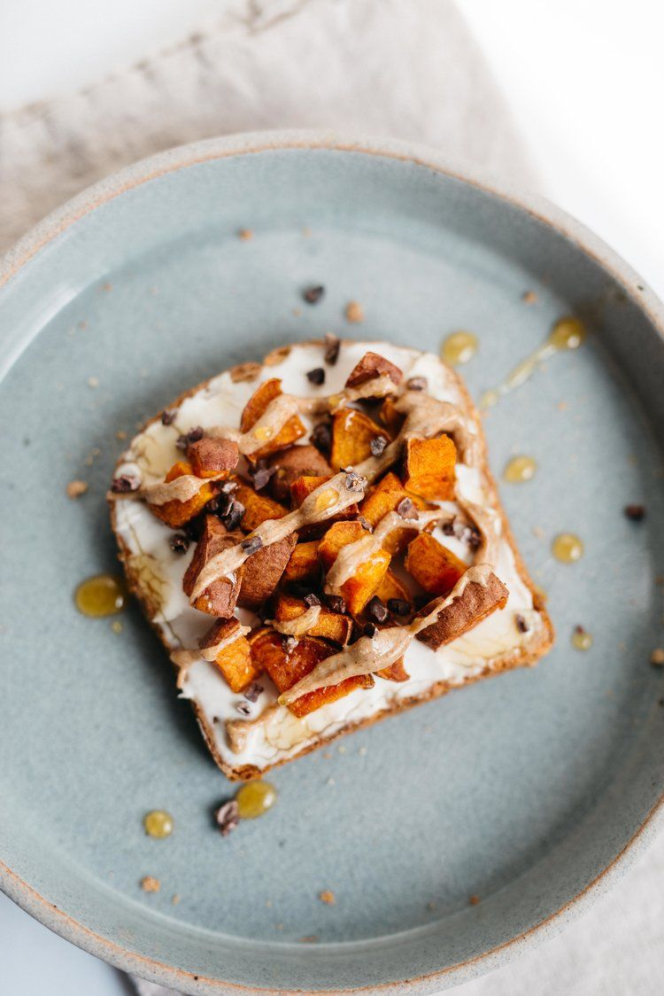 Maca Almond Butter Sweet Potato Toast Dolly And Oatmeal Com