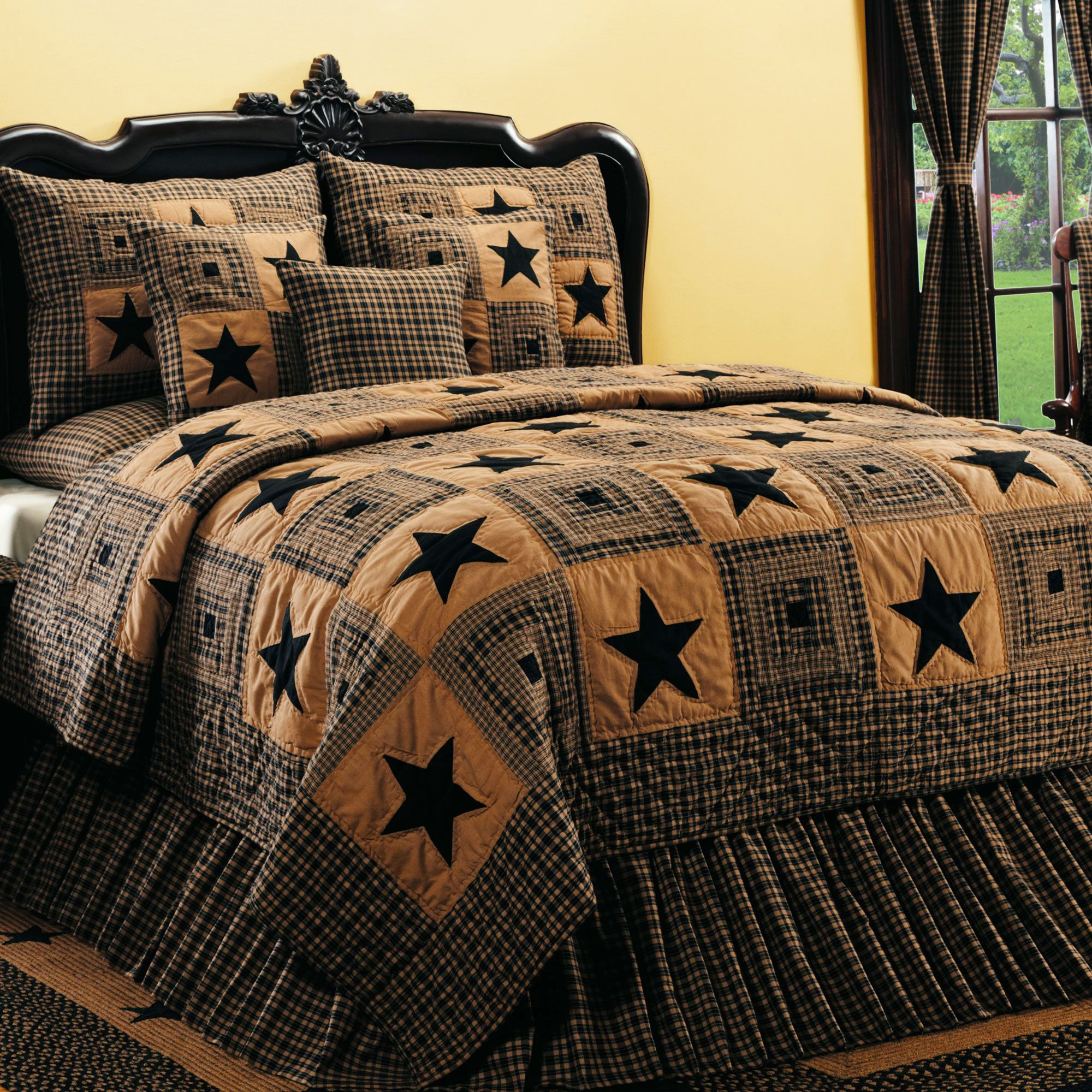 Check out the deal on Vintage Star Black Queen Sized Quilt at