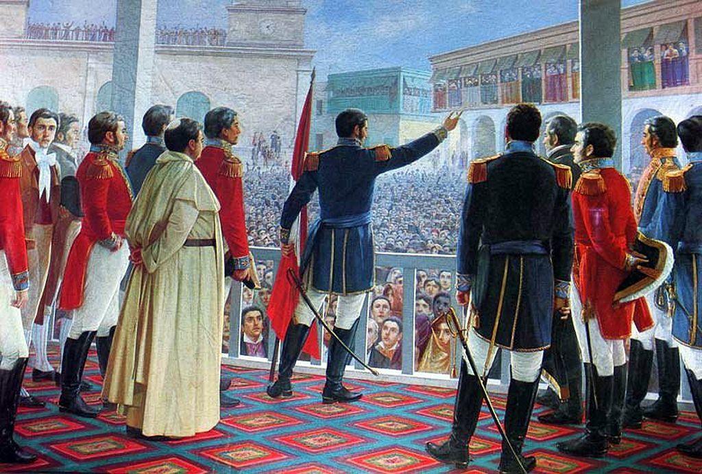 Juan Lepiani: San Martín proclama la Independencia del Perú (Roma ...