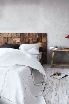 15 ideas and secrets for making diy wooden headboards look expensive wooden blocks - Do It Yourself Kopfteil Designs