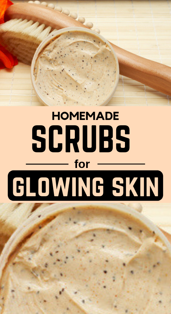 5 Effective Homemade Face Scrubs For Glowing Skin Homemade Scrub Face Scrub Homemade Homemade Face