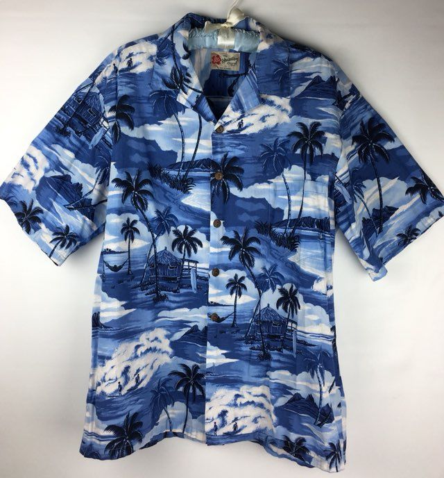 c3a71520 Cool item: Hilo Hattie Island Blue Camp Shirt XL #Aloha #HiloHattie #Hawaii