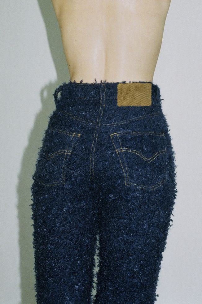 Faustine Steinmetz AW14, NEWGEN recipient SS15 fuzzy jeans