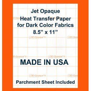 Jet Opaque II Jet Opaque Heat Transfer Paper 8.5 x 11-4 Sheets