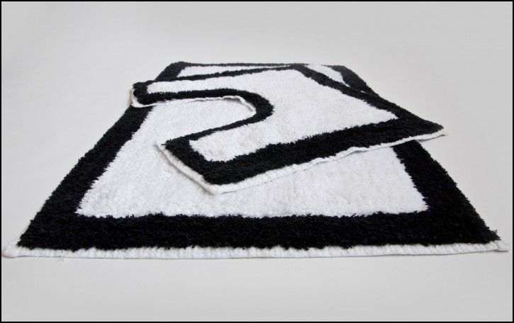 Black And White Bathroom Rug Set  Rugs Gallery  Pinterest Gorgeous Black And White Bathroom Rugs Design Ideas