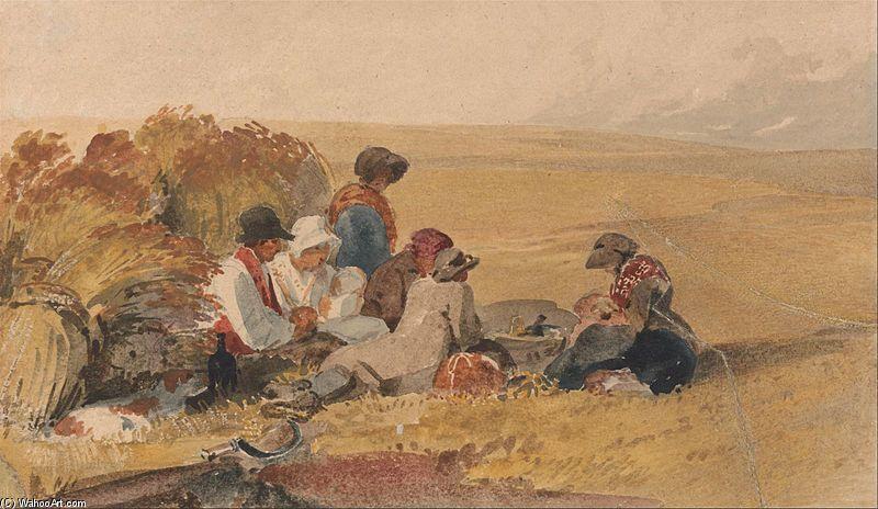Peter De Wint The Harvesters Art British Art Drawings