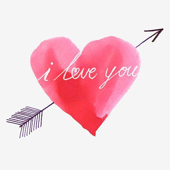 Illustrationsidee Für Eine Selbstgebastelte Postkarte! ❤. Valentines Hearts Happy ...
