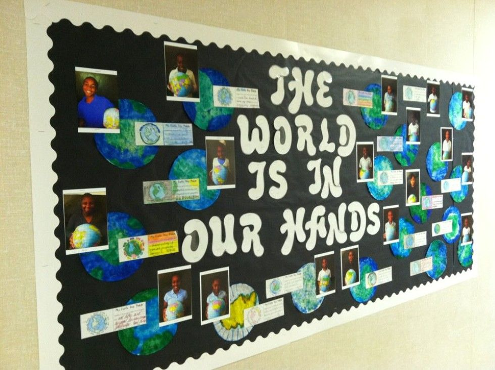 Classroom Bulletin Design ~ Bulletin board ideas designs earth day