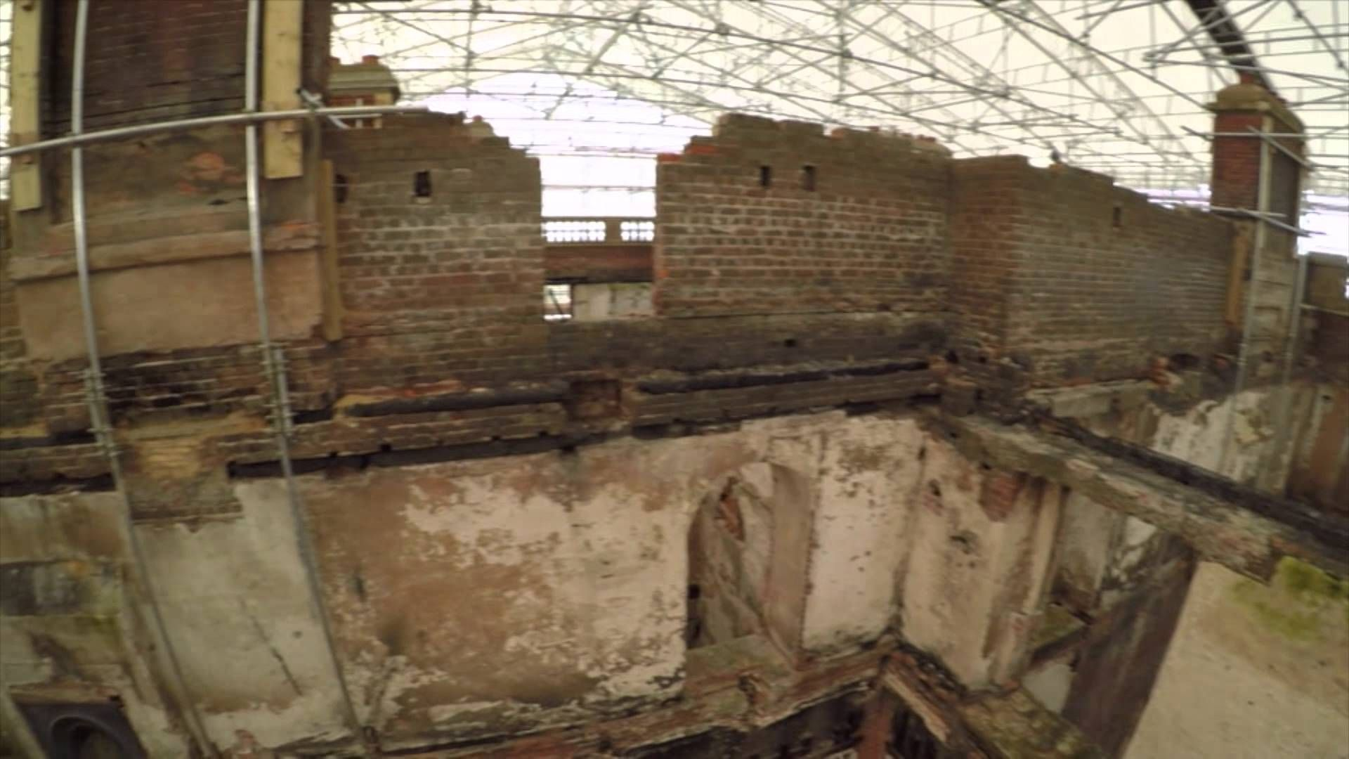 Clandon - a close look inside the Marble Hall after the fire