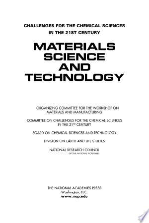 Materials Science And Technology Pdf Download In 2020 Science And Technology Chemical Science Materials Science
