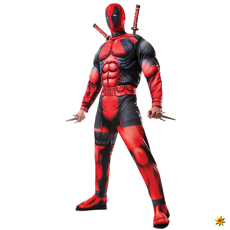 Marvel Herren Kostüm Deadpool Deluxe