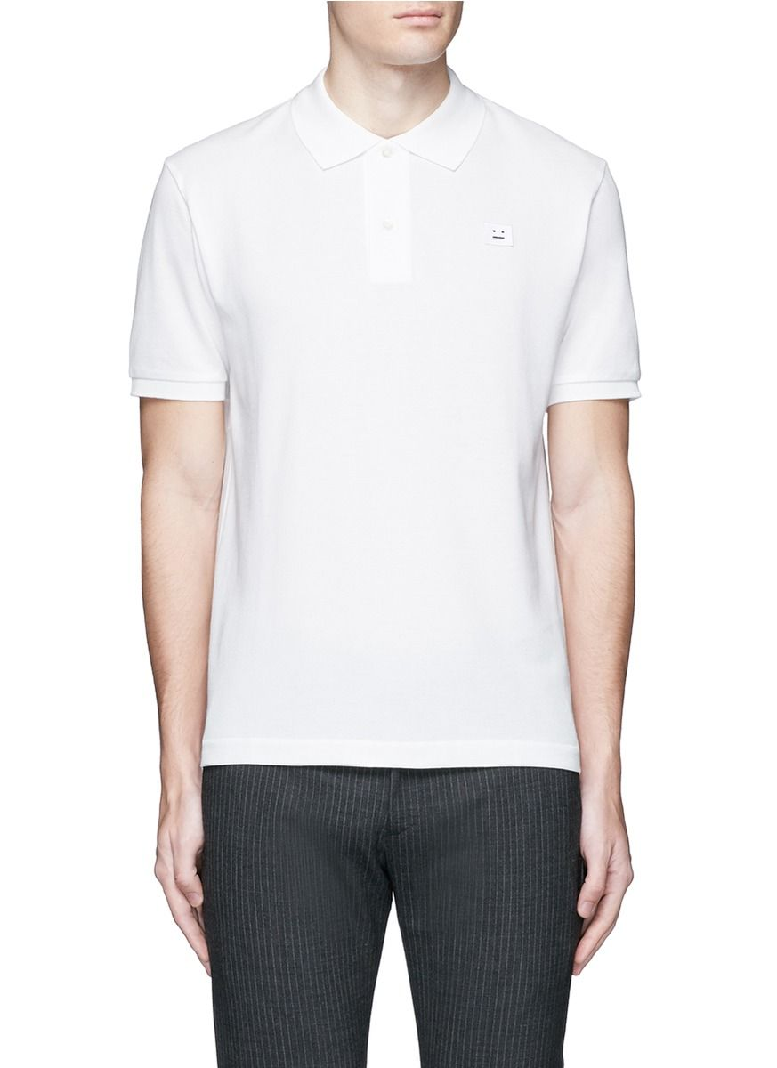 Pre Order For Sale Mens Kolby Emoji Face Cotton Polo Acne Studios Cheap Visit New KzPP66Bs2S