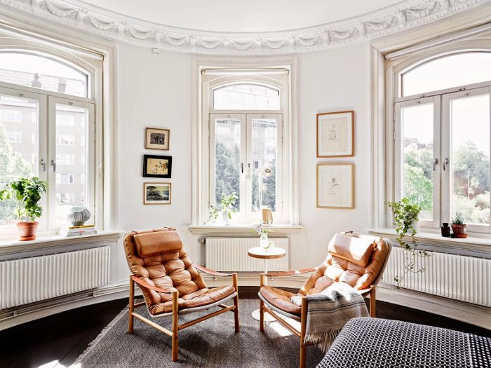 Bohemian black and white apartment in Sweden_1