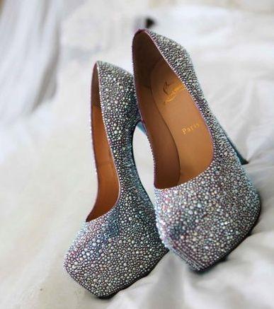 buy popular d5e1a 4d33d Bling Wedding Shoes - Christian Louboutin   Bridal Heels ...