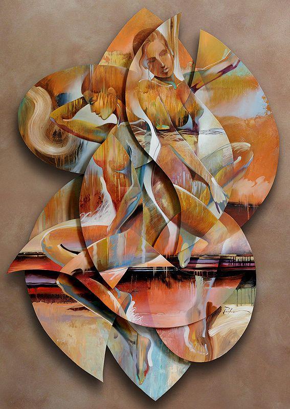 Sophie Monique 5 Level 3d Art 62 X 44 Acrylic On Board Sold Original Abstract Art Art 3d Art