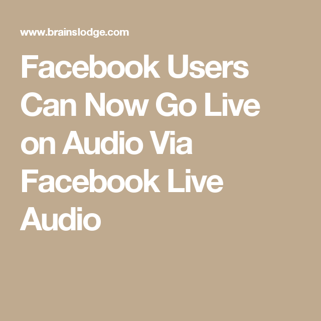 Hugedomains Com Facebook Users Facebook Live Audio