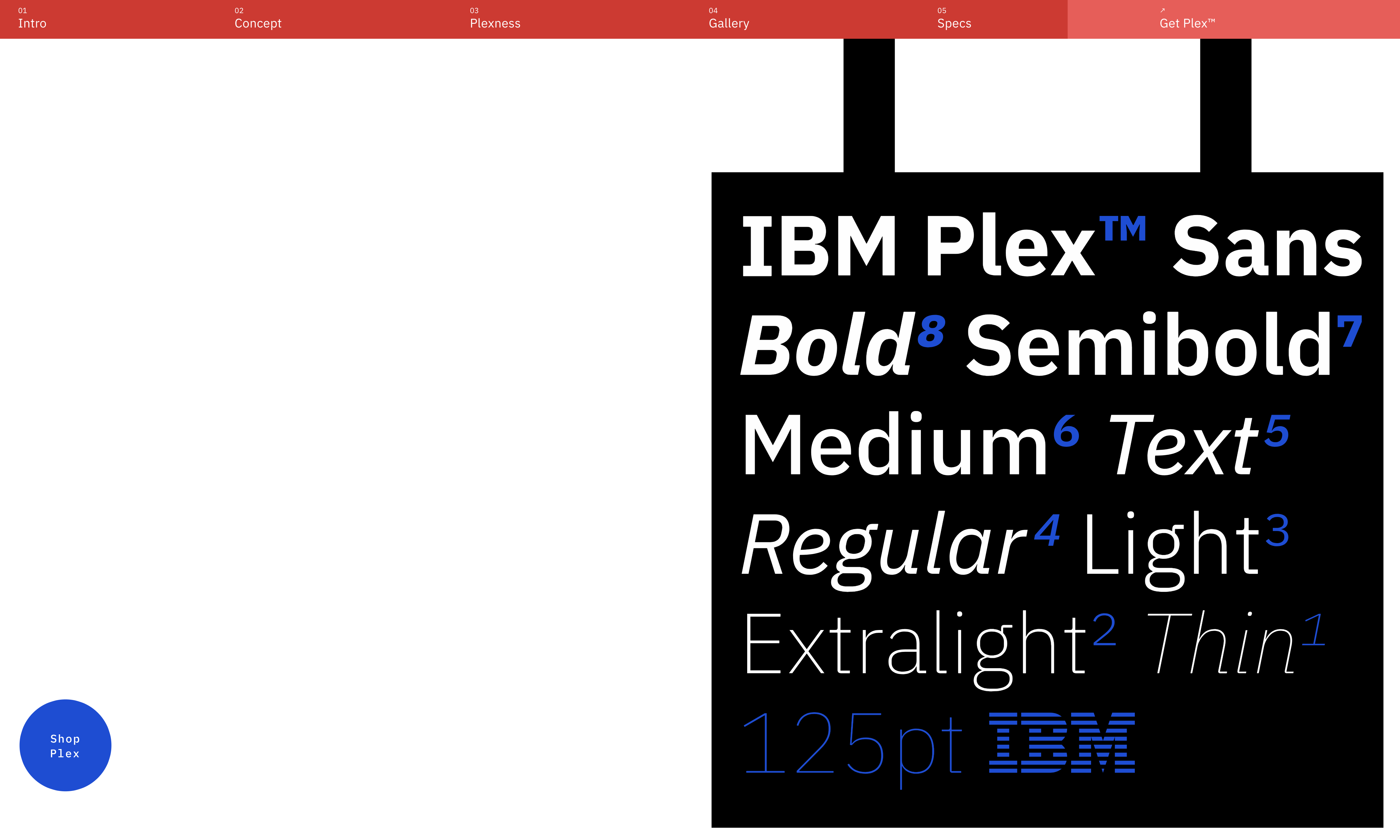 IBM announce their new font Brand guidelines, New fonts