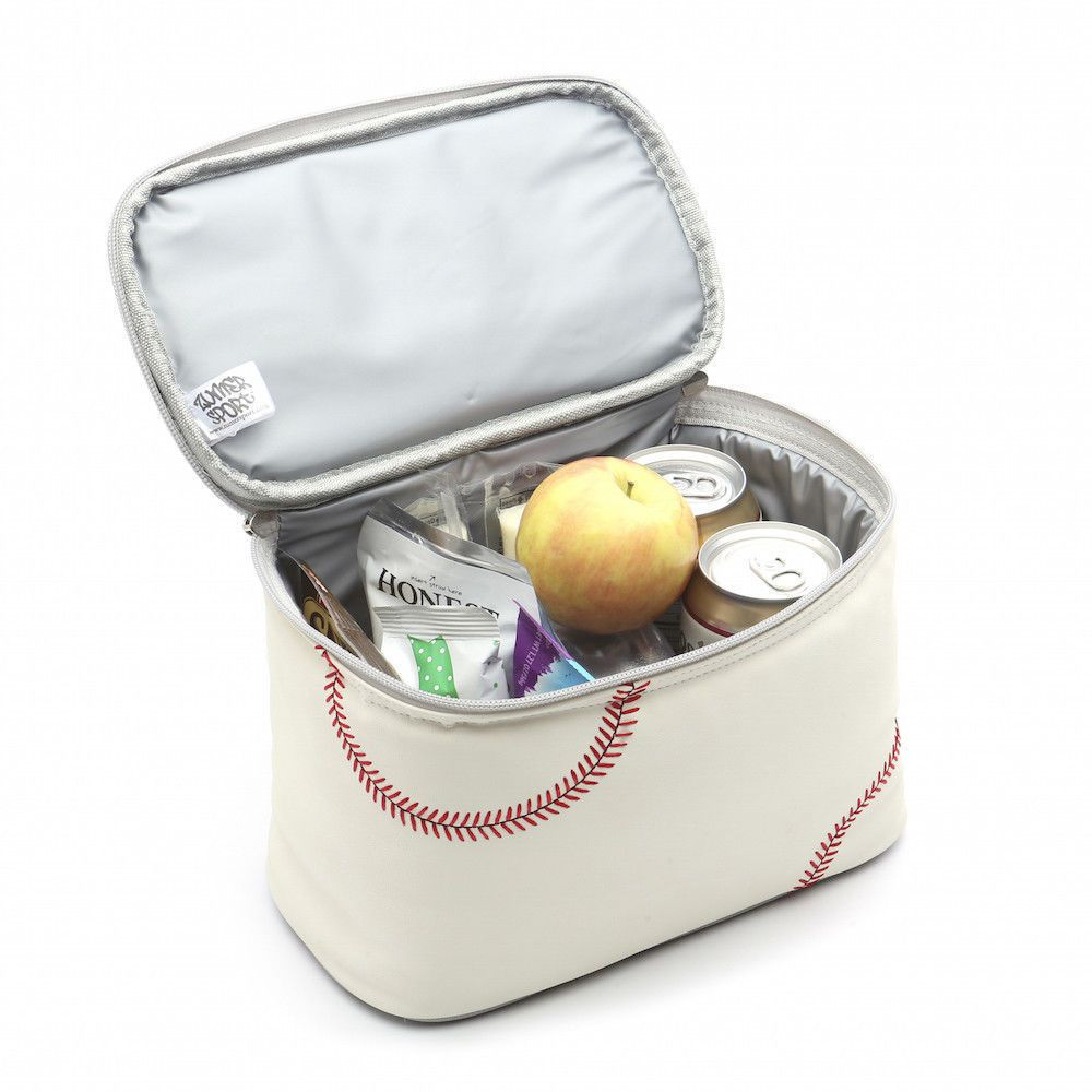 Fully Insulated Spill Resistant Lunch Box Actual Baseball Leather #Zumer #Fullyinsulatedspillresistant