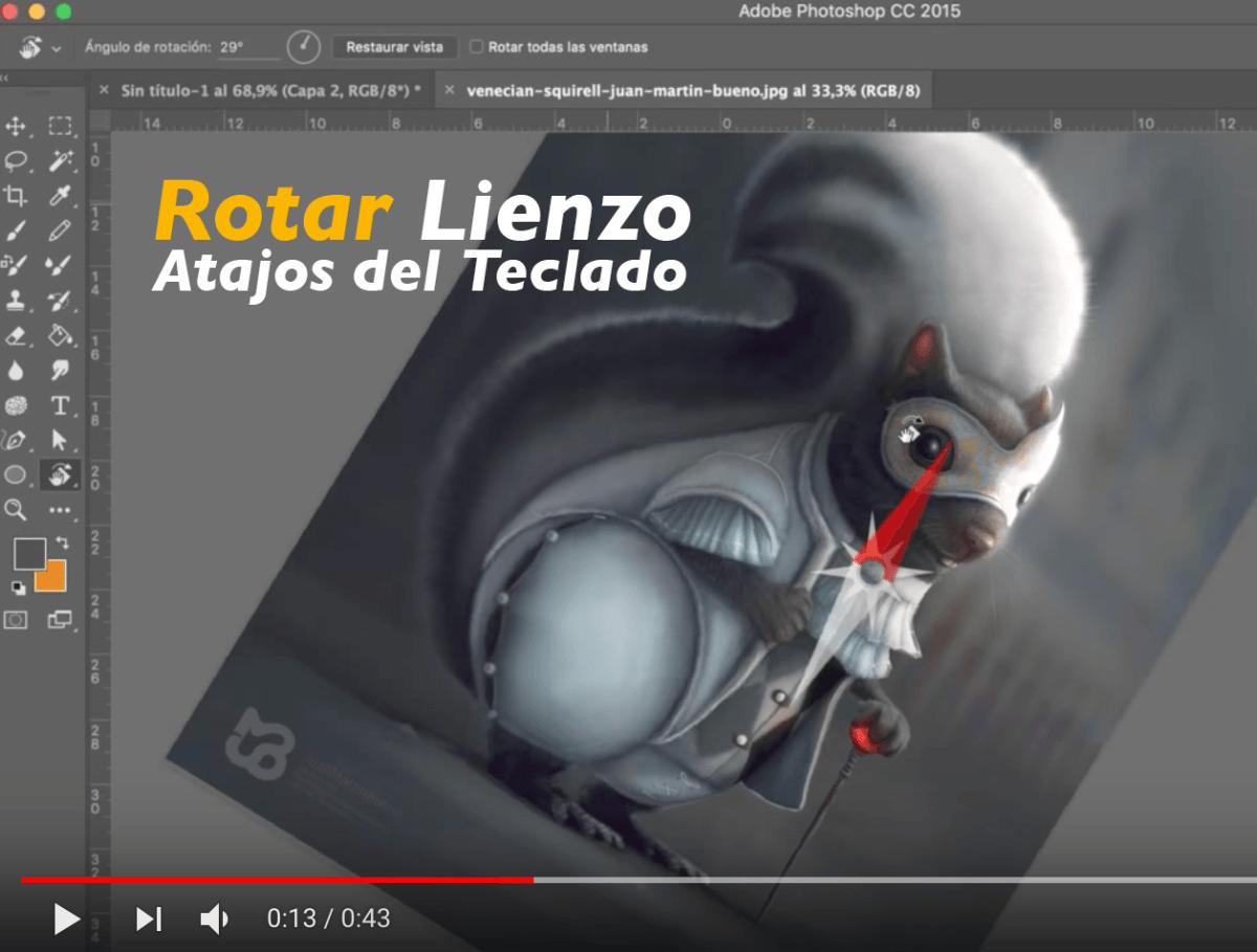 Cómo Rotar El Lienzo De Tu Photoshop Photoshop Efectos De Photoshop Retocar Fotos