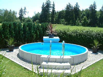 Bildergebnis Fur Stahlwandpool Halb Versenken Gartenpools Pool Im Garten Eigenen Pool Bauen