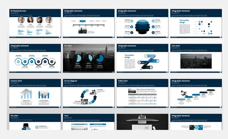 Resultado de imagen de company presentation template Design - professional power point template