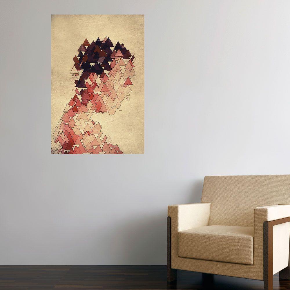 Abstract Mixed Media Wall Art - Man by DejaReve
