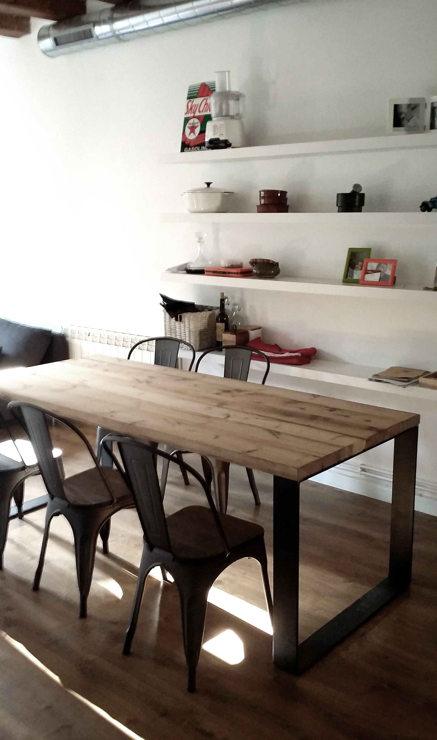 Dining tables gerrit industrial style rustic pine iron dining table - Sillon Madera Hierro Buscar Con Google Muebles Hierro Madera Pinterest Outdoor Tables Armchairs And Exterior