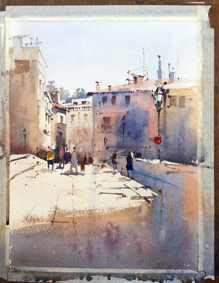 Vikrant Shitole - Girona #watercolor jd