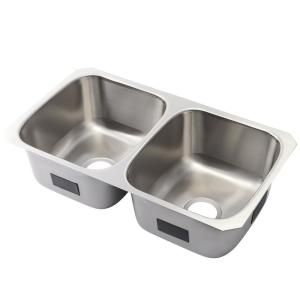 Kohler Ballad Undermount Stainless Steel 32 In 50 50 Double Bowl