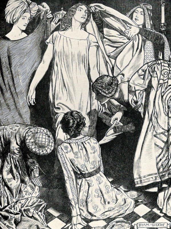 Dzhovanni Bokkachcho Dekameron Illyustrator Byam Shaw 1899 Fairytale Illustration Sketch Inspiration Black And White Illustration