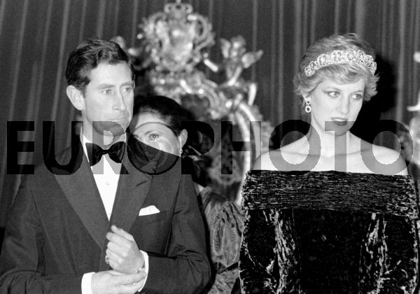 Princess Diana and Prince Charles during a reception in Ajuda Palace 12 February 1987. ALFREDO CUNHA/LUSA