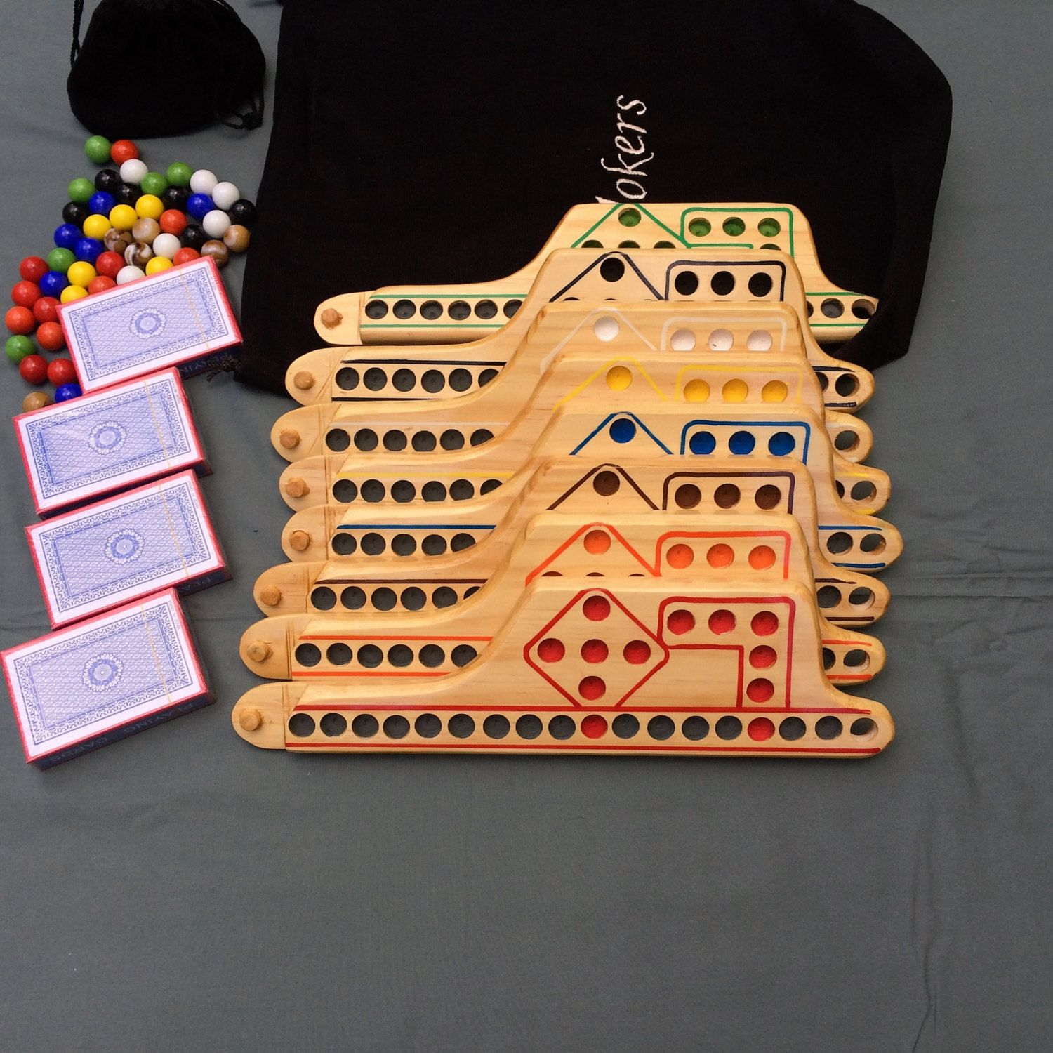 Jokers And Marbles 8 Player Game In Pine Pegs And Jokers Wooden Board Games Games
