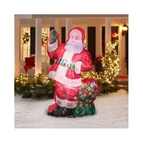 airblown inflatable photorealistic santa christmas decoration yard outdoor 7 ft