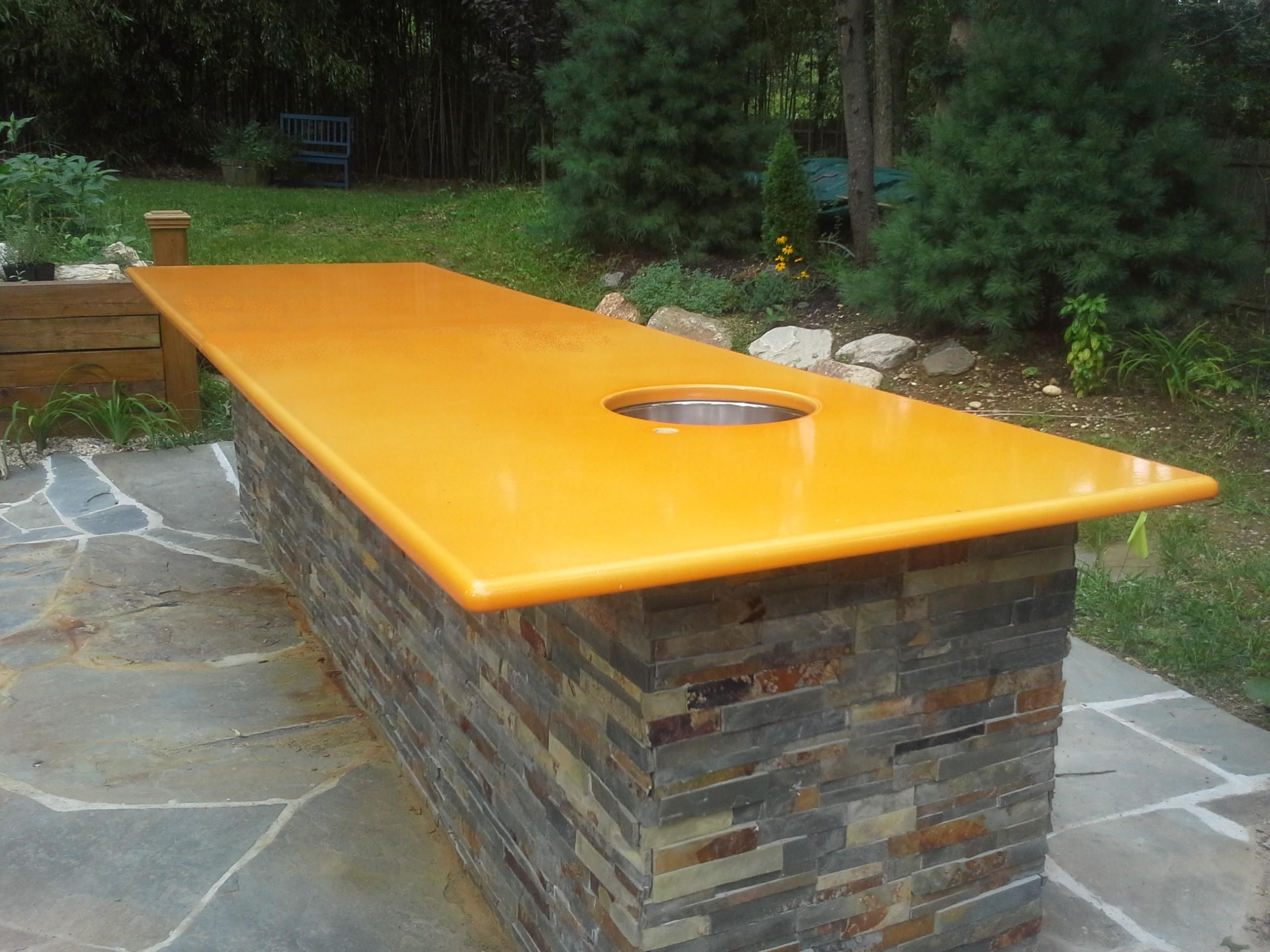Outdoor Kitchen Best Counter Top Surface Enameled Lava Stone Made In America