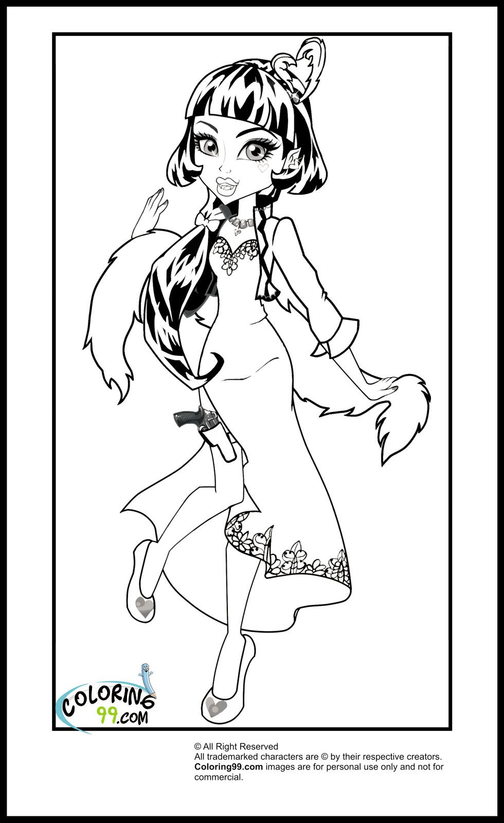 Monster High Draculaura Coloring Pages Coloring Pages Monster High Coloring Books