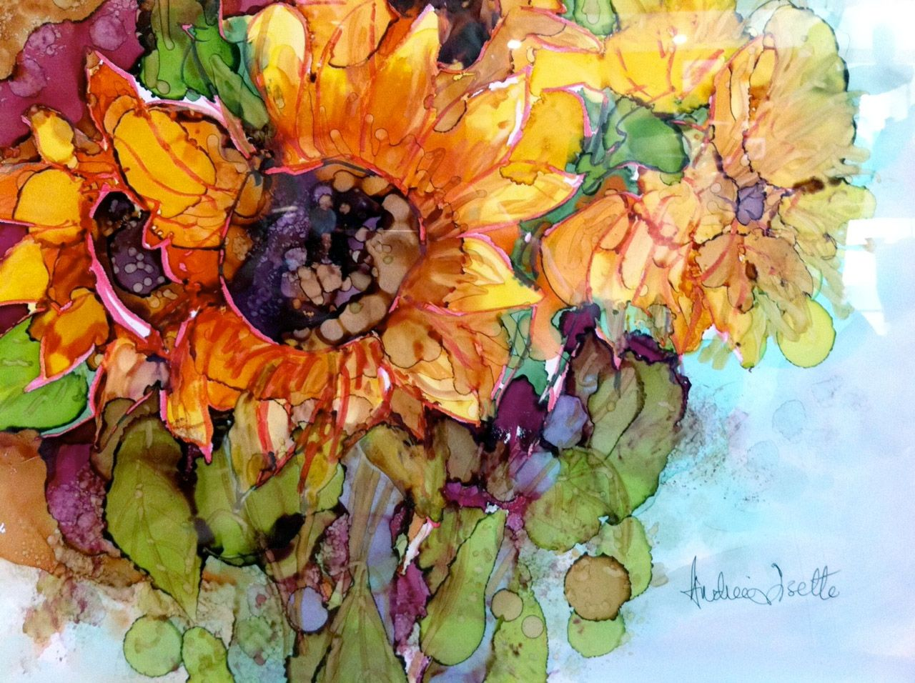 Yupo Paper At Michaels Sunflowers By Andree Lisette Herz