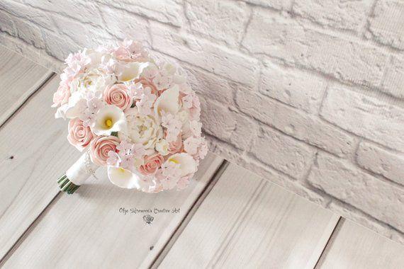 Cherry Blossom Wedding Bouquet Keepsake Calla Lilly Bridal Bouquet