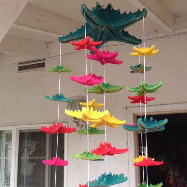 Filipino Home Decor: Colorful Starfish Wind Chimes Filipino Style!