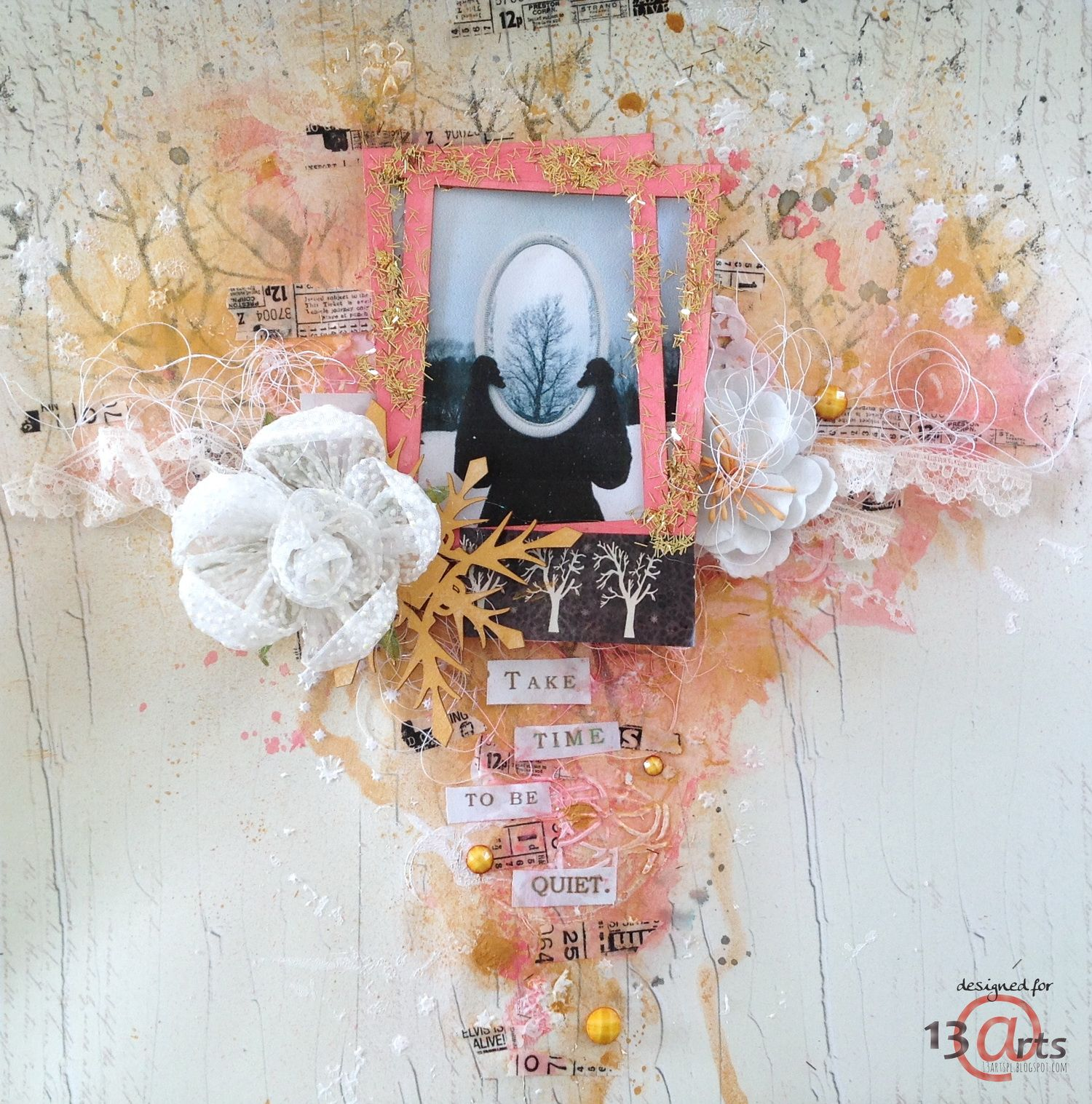 13arts: Take Time- layout by our GD Alexandra Polyzou