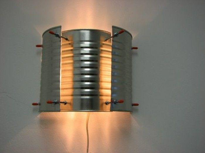 Lampada Barattolo Fai Da Te : Idee fai da te barattolo latta stile industriale lampada muro